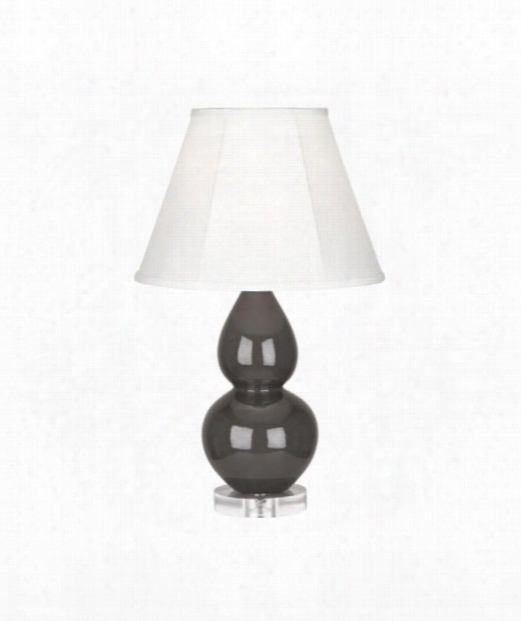 """Small Double Gourd 5"""" 1 Light Table Lamp In Lucite-charcoal Ash"""