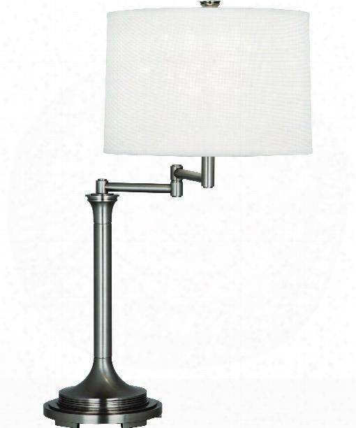 "Sofia 8"" 1 Light Desk Lamp In Dark Antique Nickel"