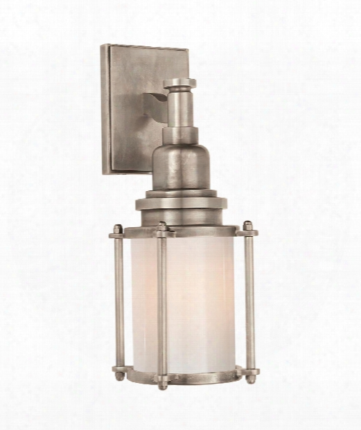 """Stanway 4"""" 1 Light Outdoor Wall Sconce In Antique Nickel"""