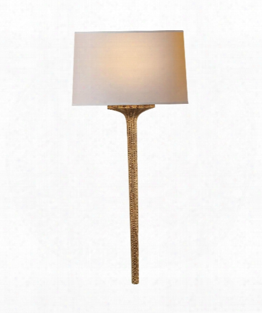 "Strie 11"" 1 Light Wall Sconce In Gilded Iron"