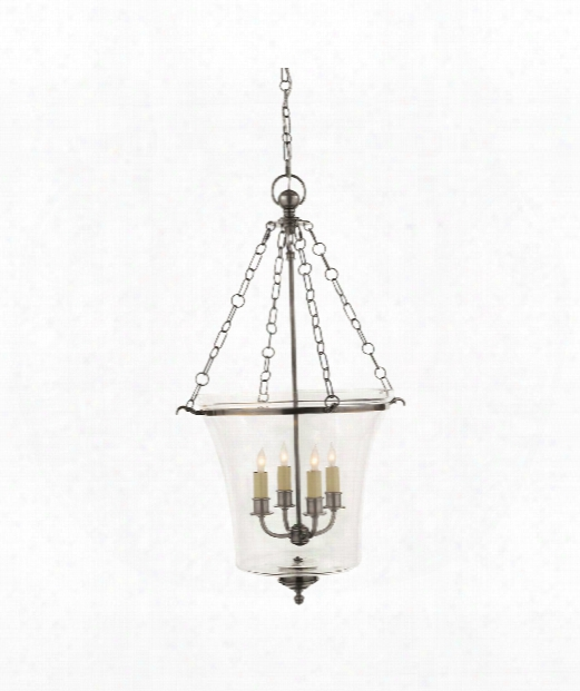 "Sussex 19"" 4 Light Foyer Pendant In Antique Nickel"