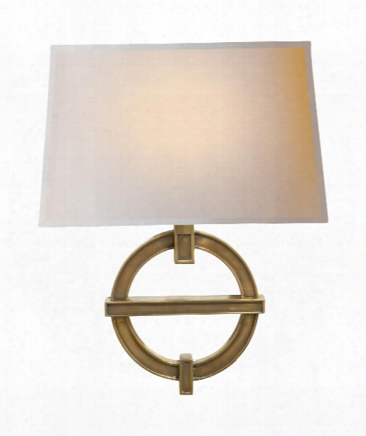 """Sybolic Fragment 14"""" 1 Light Wall Sconce In Antique-burnished Brass"""