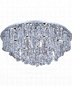 "Bangle 26"" 20 Light Flush Mount in Polished Chrome"
