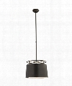 "Bryden 18"" 2 Light Large Pendant in Aged Iron"