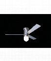 Cirrus 1 Light Flush Mount Fan in Brushed Aluminum