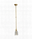 "Covington 7"" 1 Light Mini Pendant in Antique Burnished Brass"