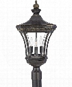 "Devon 11"" 3 Light Outdoor Outdoor Post Lamp in Imperial Bronze"