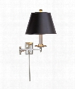 Dorchester 1 Light Wall Swing Lamp in Polished Nickel