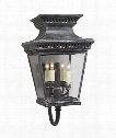 "Elsinore 11"" 4 Light Outdoor Wall Sconce in Weathered Zinc"