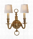 "English 10"" 2 Light Wall Sconce in Antique-Burnished Brass"
