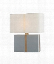 "Janus 26"" 1 Light Table Lamp in Gray-Antique Brass"