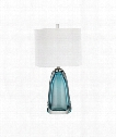 "Ms. Poole 14"" 1 Light Table Lamp in Blue"