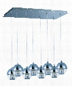"Reflex 26"" LED 8 Light Multi Pendant Light in Polished Chrome"