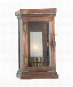 "Somerset 6"" 1 Light Outdoor Outdoor Wall Light in Natural Copper"