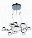 "Timbale 32"" LED 11 Light Large Pendant in Polished Chrome"