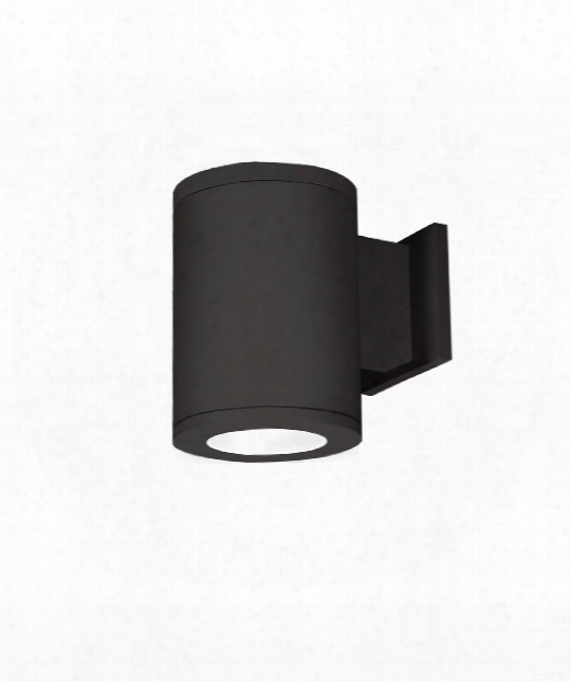 "Tube Architectural 8"" Led 1 Light Outdoor Outdoor Wall Light In Black"