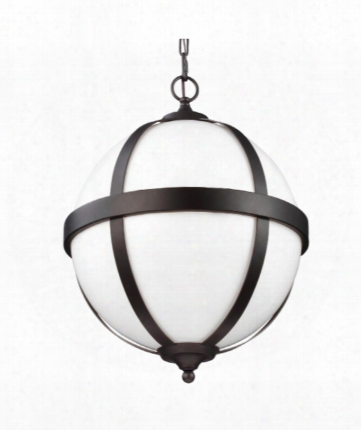"Amato 16"" 3 Light Large Pendant In Oil Rubbed Bronze"