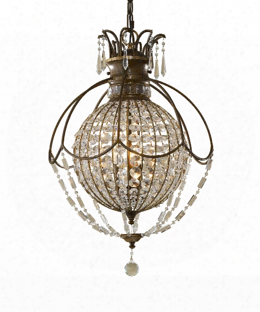"Bellini 18"" 3 Light Large Pendant In Oxidized Bronze-british Bronze"