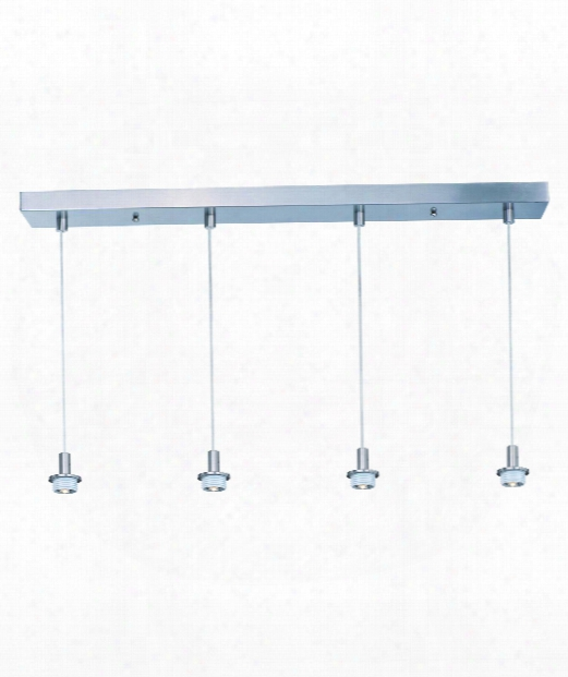 "Carte Led 33"" Led 4 Daybreak Multi Pendant Light In Satin Nickel"