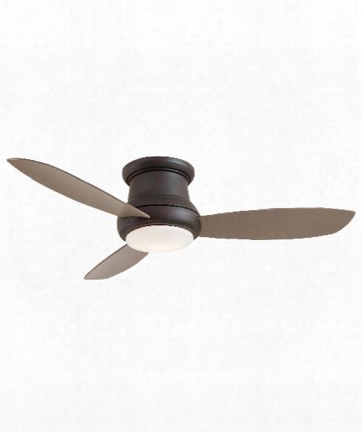 Concept Ii 1 Light Flush Mount Fan In Oil Rubbed Bronze