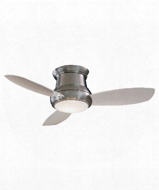 Concept Ii Led 1 Light Flush Mount Fan In Brushed Nickel