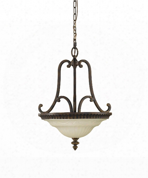 "Drawing Room 17"" 2 Light Large Pendant In Walnut"