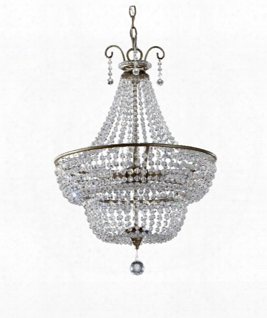 """Dutchess 18"""" 3 Light Large Pendant In Burnished Silver"""