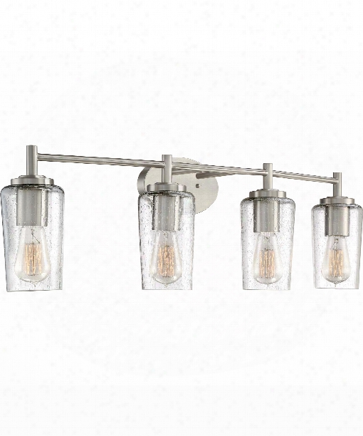 "Edison 33"" 4 Light Bath Vanity Light In Brushed Nickel"