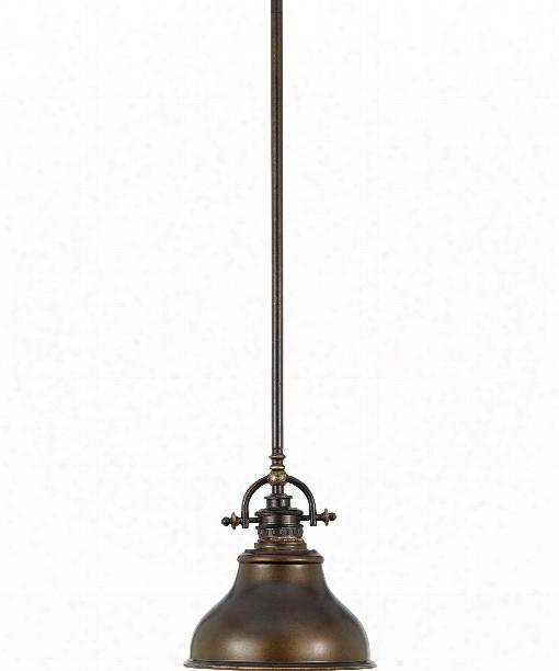 "Emery 8"" 1 Light Mini Pendant In Palladian Bronze"