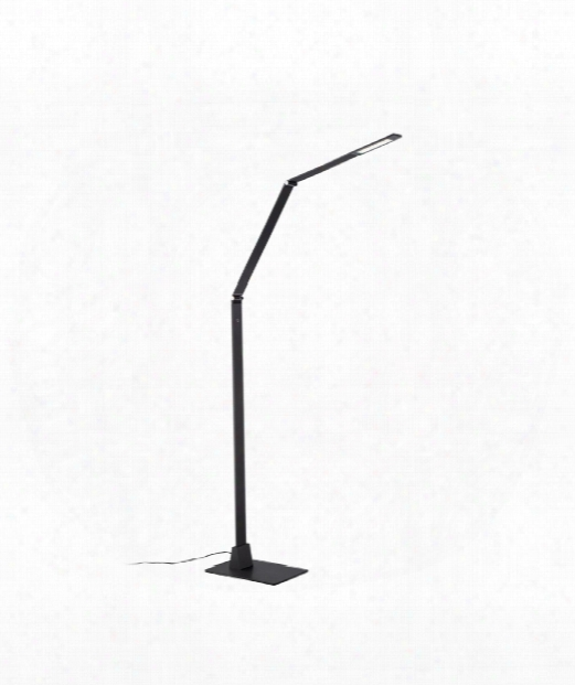 "Flat 39"" Led 1 Light Reading Lamp In Black"