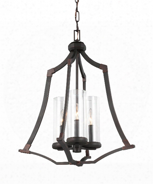 "Jacksboro 20"" 3 Light Large Pendant In Dark Antique Copper - Antique Copper"