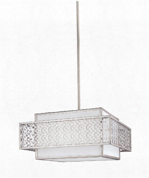 "Kenney 20"" 3 Light Large Pendant In Sunrise Silver"