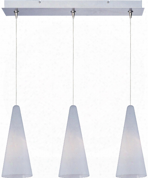 "Lava 24"" 3 Light Multi Pendant Light In Satin Nickel"