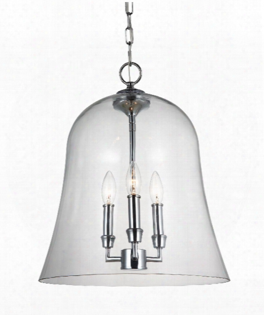 "Lawler 15"" 3 Light Large Pendant In Chrome"