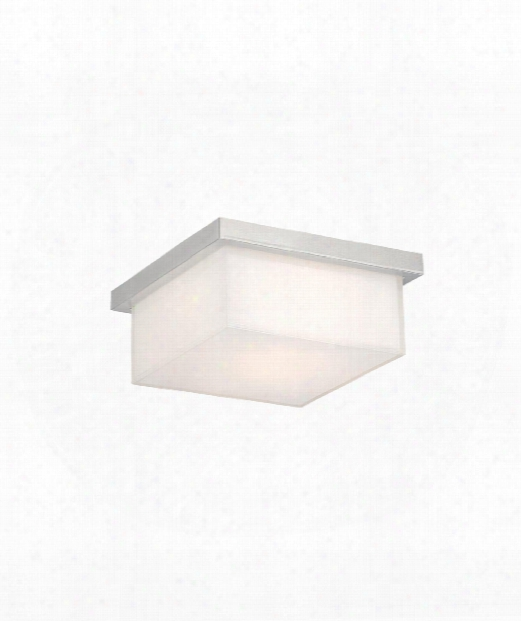 "Ledge 8"" Led 1 Light Flush Mount In Brushed Aluminum"