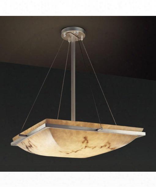 """Lumenaria Ring 20"""" 3 Light Large Pendant In Brushed Nickel"""