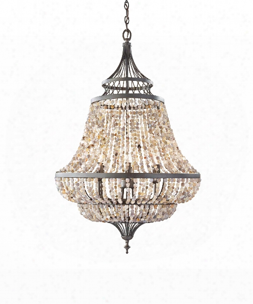 "Maarid 24"" 6 Light Chandelier In Rustic Iron"
