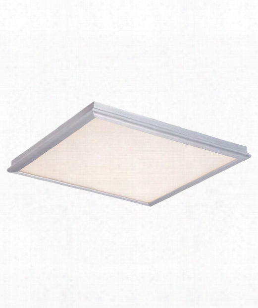 "Neo 12"" Led 1 Light Flush Mount In Brushed Aluminum"