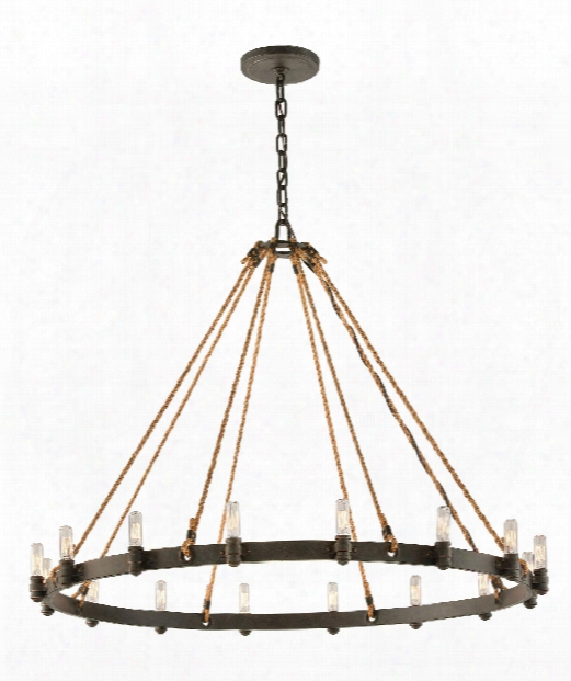 "Pike Place 42"" 16 Light Chandelier In Shipyard Bronze"