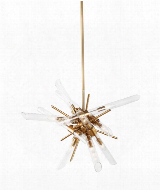 "Quorra 33"" 14 Light Large Pendant In Burnished Brass"