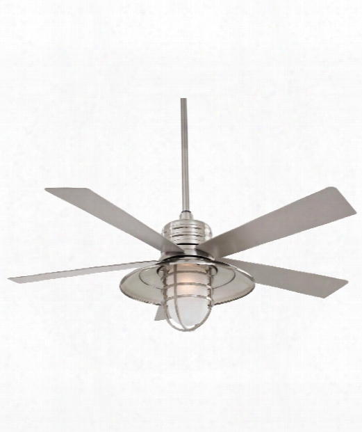 Rainman Outdoor Ceiling Fan In Brushed Nickel Wet