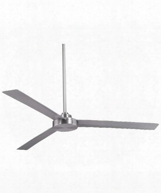 Roto Outdoor Ceiling Fan In Brushed Aluminum