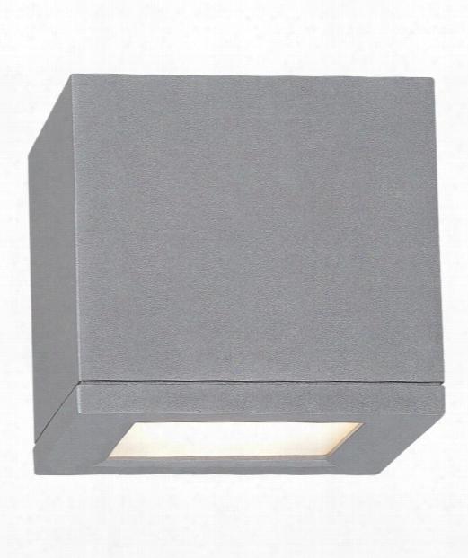 "Rubix 5"" Led 1 Light Outdoor Outdoor Flush Mount In Graphite"