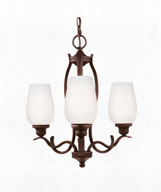 "Standish 18"" 3 Light Mini Chandelier In Oil Rubbed Bronze With Highlights"