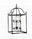 "Declaration 18"" 6 Light Foyer Pendant in Antique Forged Iron"