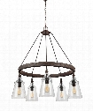 "Loras 27"" 5 Light Chandelier in Dark Weathered Iron"
