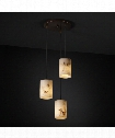 "LumenAria 4"" 3 Light Multi Pendant Light in Dark Bronze"