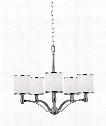 "Prospect Park 25"" 5 Light Chandelier in Satin Nickel - Chrome"