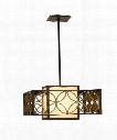 "Remy 21"" 2 Light Large Pendant in Heritage Bronze-Parissiene Gold"
