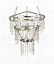 """Stonesend 30"""" LED 3 Light Chandelier in Silver Leaf Antique"""